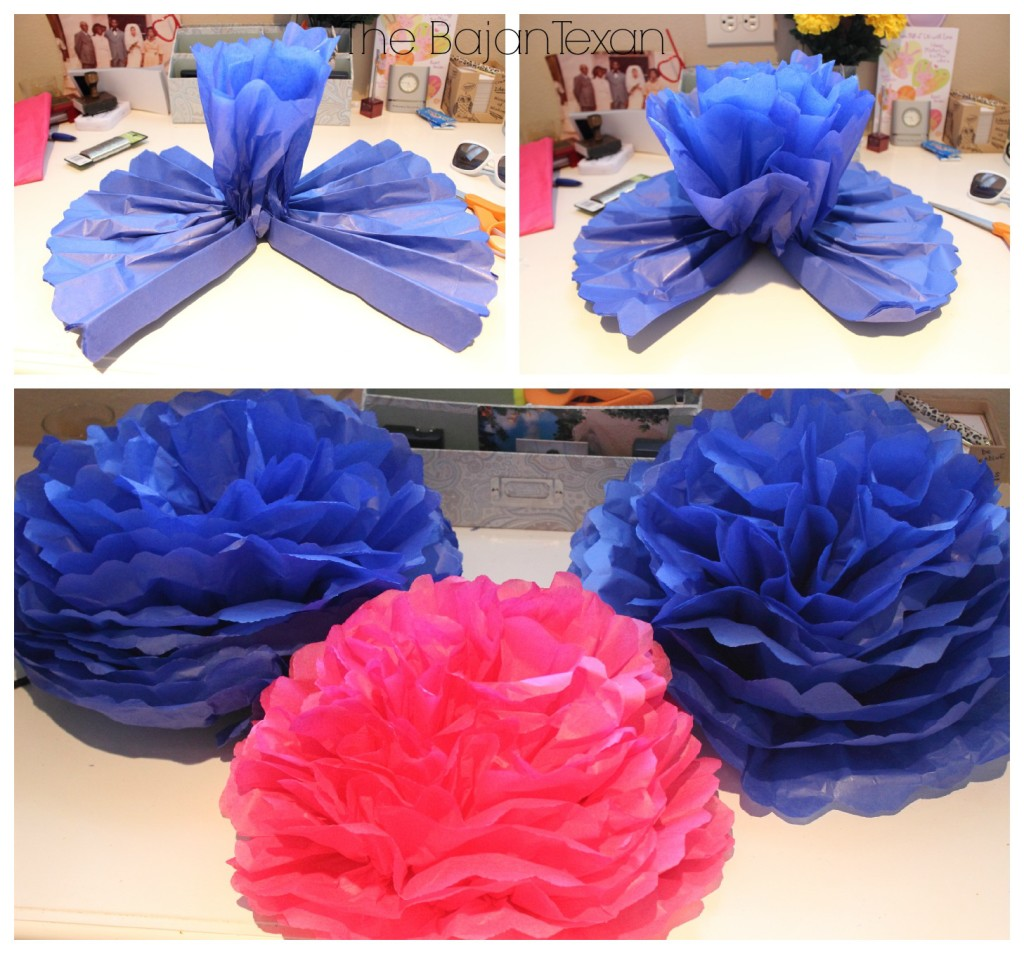 Diy Tissue Paper Flower Party Decor Video Tutorial The Bajan Texan