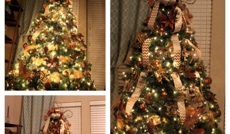Decorate Christmas Tree Video Tutorial with Bow Topper and Deco Mesh