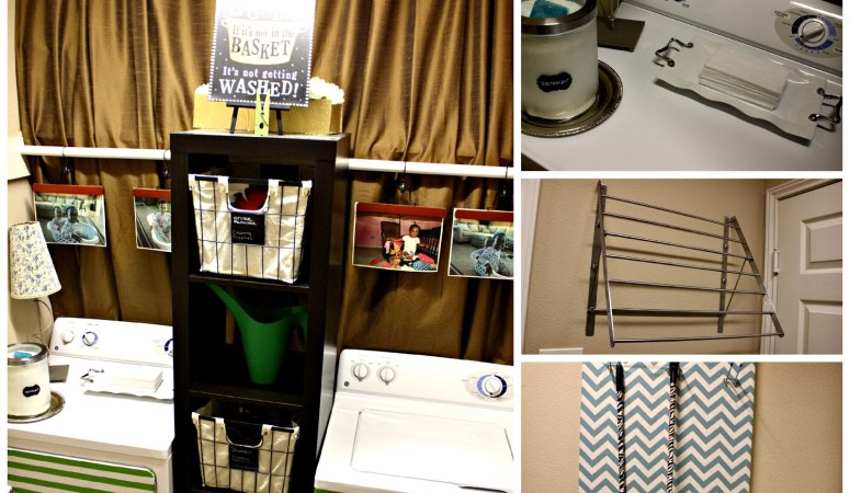 Cheap Decorating Ideas: Laundry Room Tour