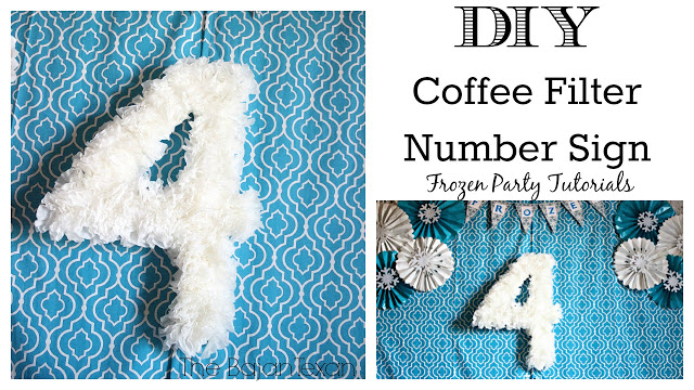 DIY Birthday Party Number Sign Using Coffee Filter
