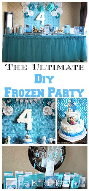The Ultimate DIY Frozen Party - Find everything you need to know and prepare for your kid's awesome Frozen Party!