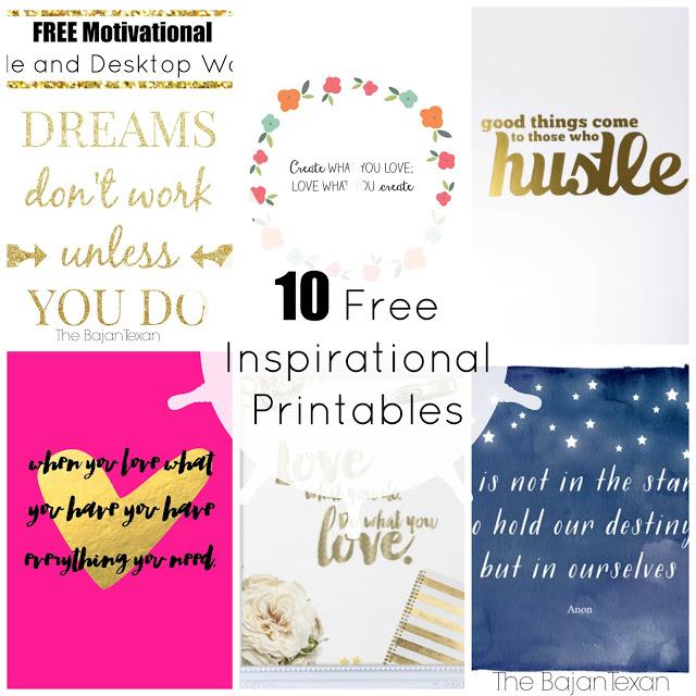 10 Free Inspirational Printables