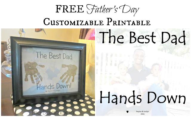 Free Father's Day Printable Gift: Hand-print Printable
