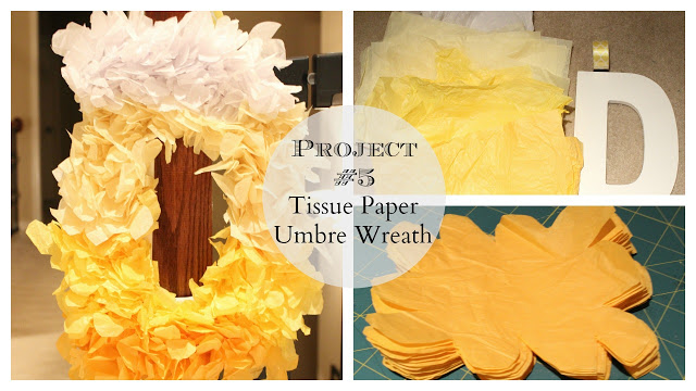 umbre tissue paper wreath