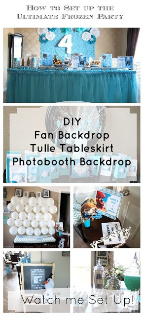 Frozen Party Ideas: How to Set Up the Ultimate Frozen Party - Great tips for your child's Frozen party. Fun and easy to make!