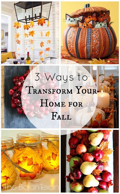 Fall Decor Ideas: 3 Ways to Transform Your Home for Fall