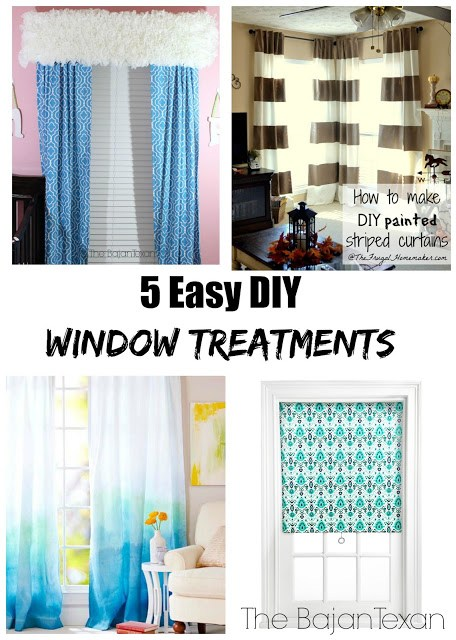 easy DIY window treatments