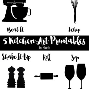 Kitchen art printables