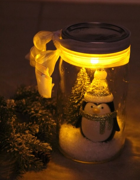lighted snow globe