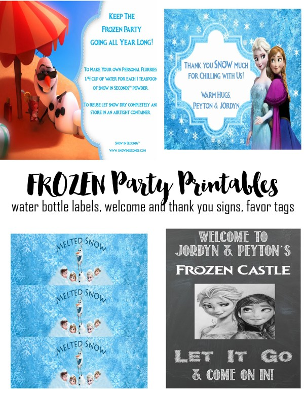 Frozen Party Printables
