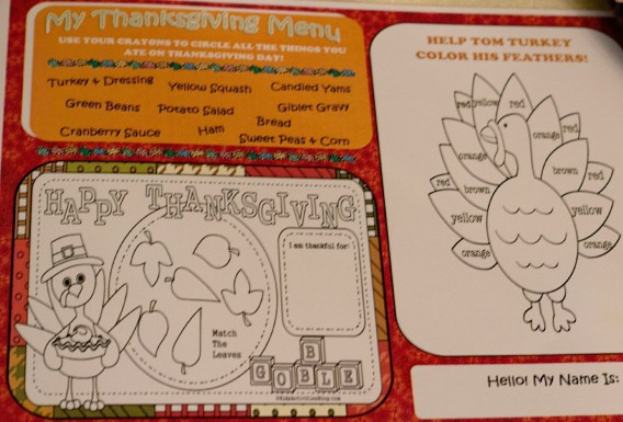 thanksgiving kids coloring book