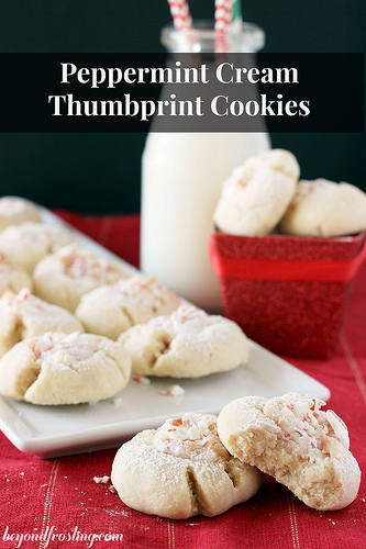 peppermint thumbprint cookies