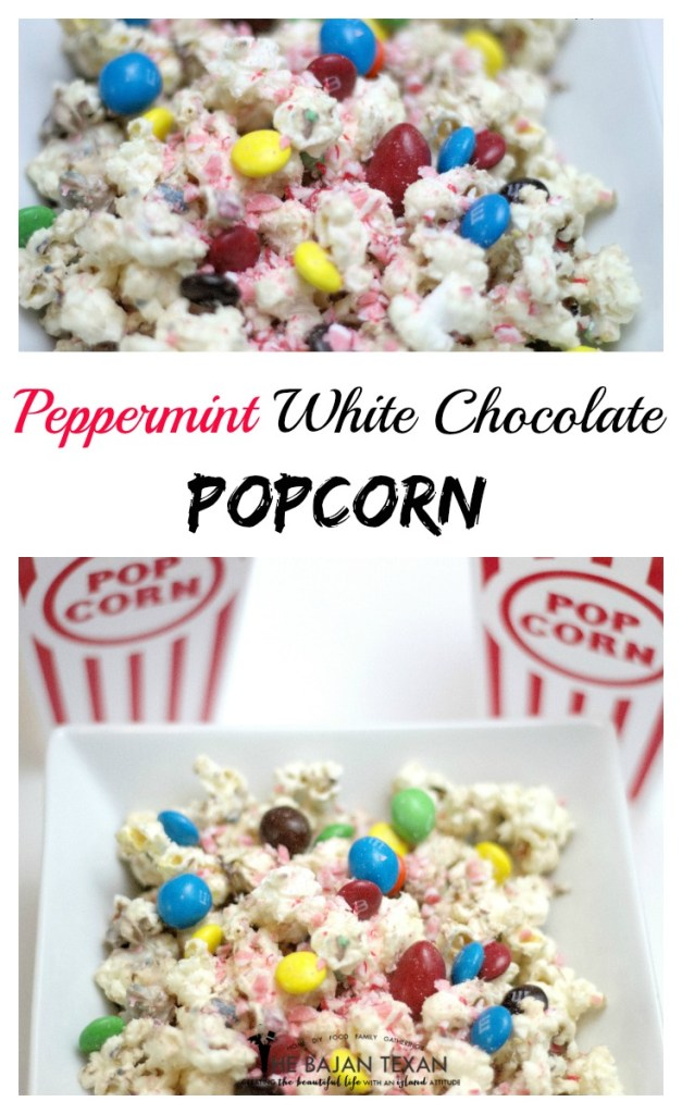 peppermint white chocolate popcorn recipe