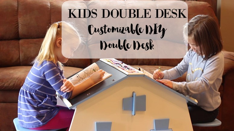 The Best Children's Desk Ever: Double Desk for Kids - This is a kids desk that was made for twins or siblings. And I have never seen anything like it!