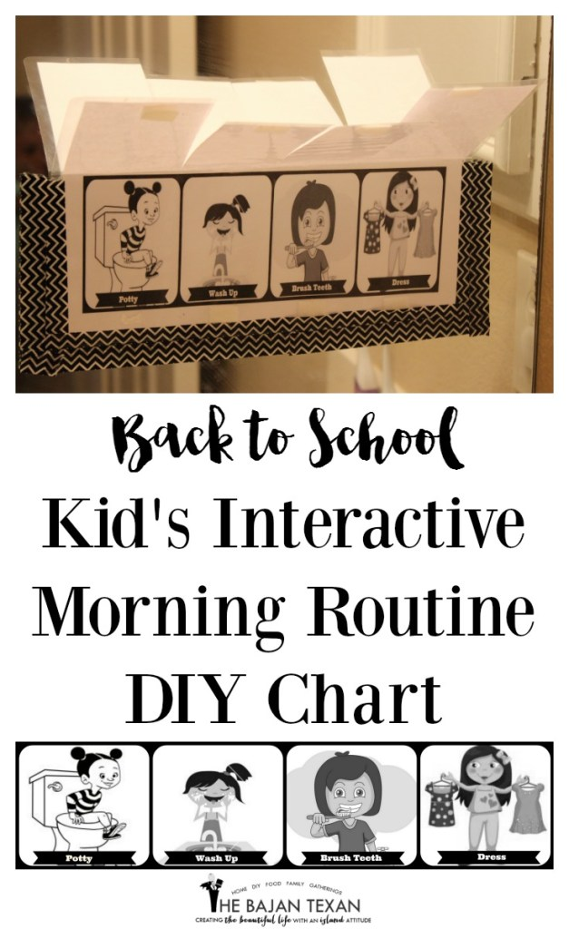 back to school morning routine chart