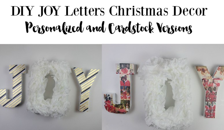 DIY Christmas Decor Personalized JOY Letters
