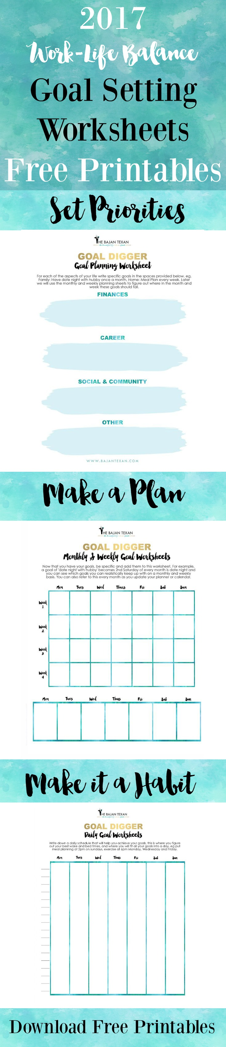 worksheet Life Planning Worksheet free goal planning worksheets for the new year bajan texan 2017 printables