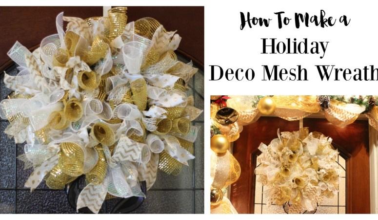 How to Make a Christmas Deco Mesh Wreath