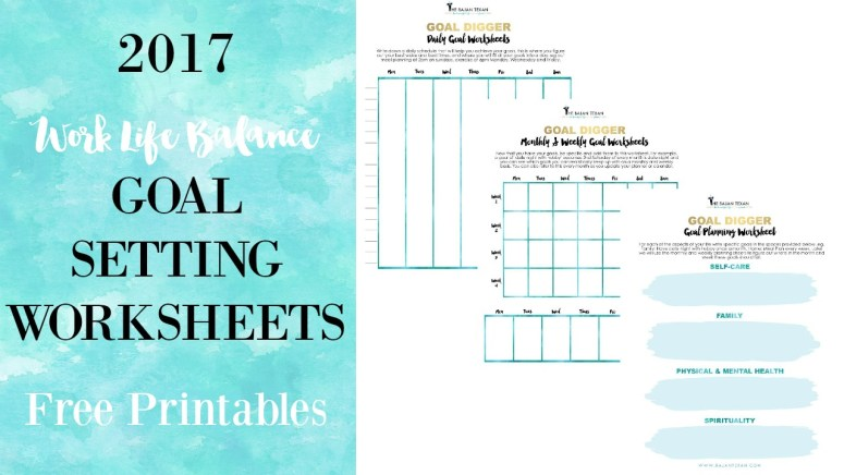2017 goal planning worksheets free printables