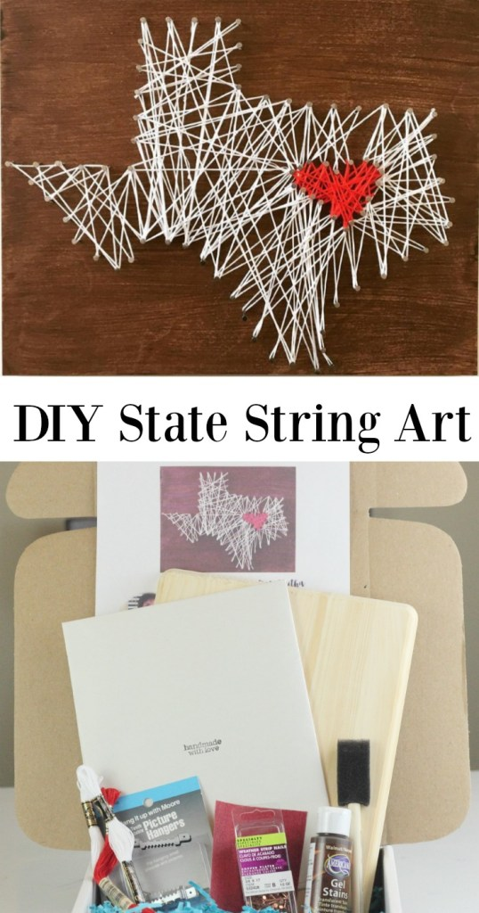 DIY State String art tutorial