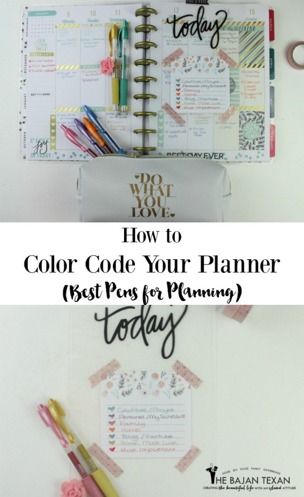 How to color code a planner to stay organized for Color coding planner