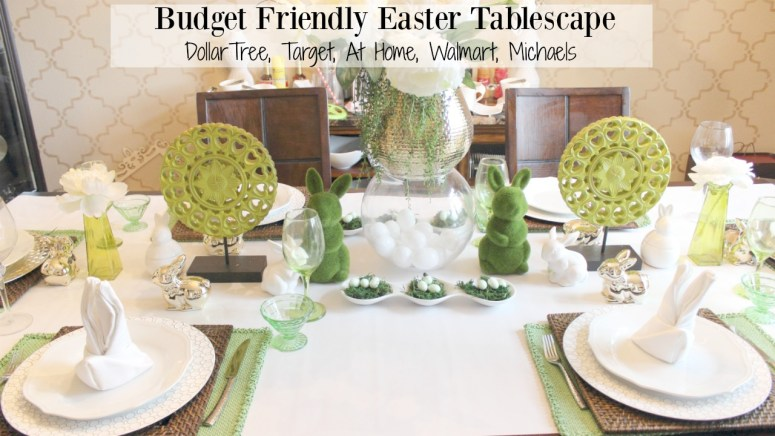 dollar tree easter tablescape