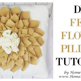 DIY Felt Flower Pillow Tutorial