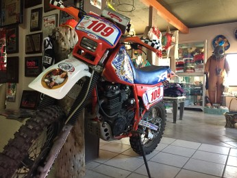 Dirt Bikes in Restaurants