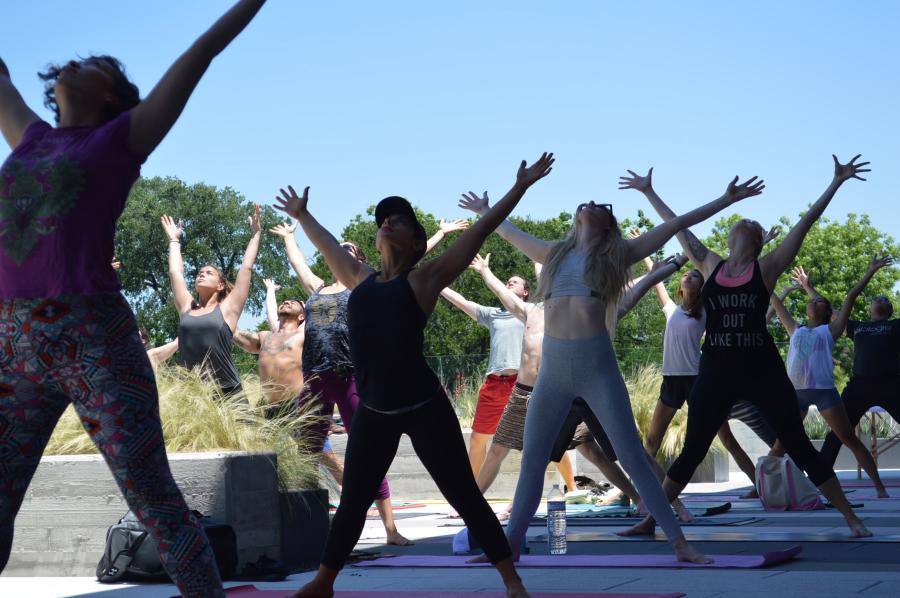 Baja Surf Yoga class in star pose