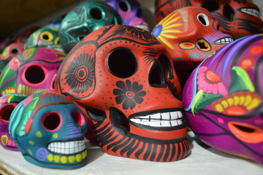 Mexican ceramic sugar skulls
