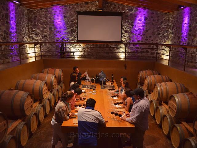 Taller de elaboración de vino, en el Tour al Valle de Santo Tomás.