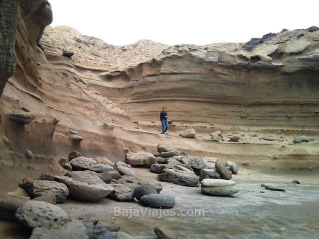 Formaciones rocosas en la costa de Baja California