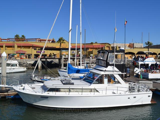 Barcos de pesca deportiva para los paseos en Ensenada.