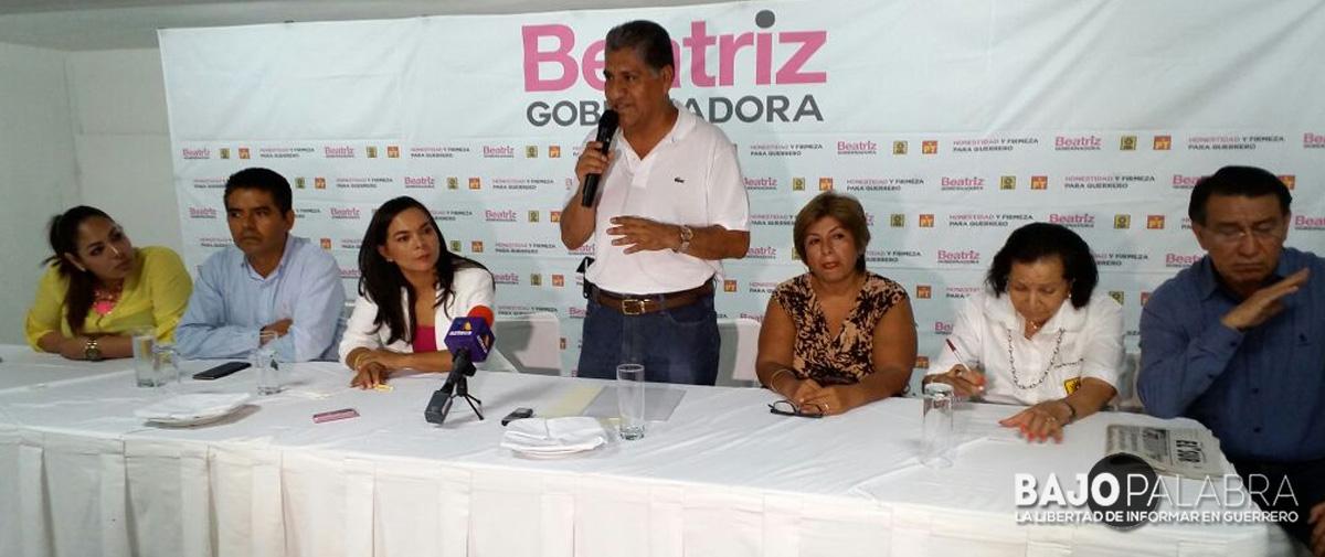 Apoya Álvaro Leyva Reyes, secretario del CDE del PRI, a Beatriz Mojica