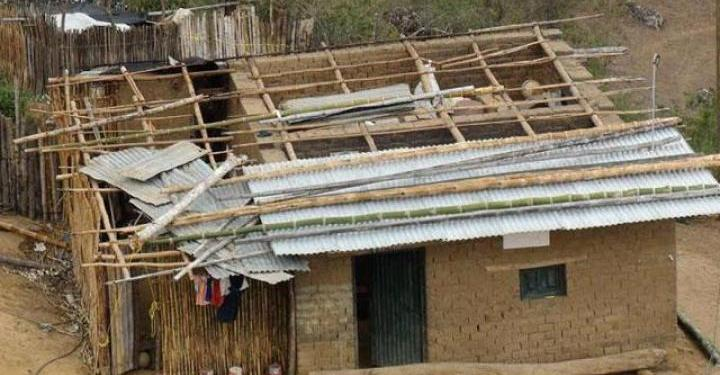 Lluvia y vientos fuertes dañan 107 casas en la Montaña de Guerrero 1