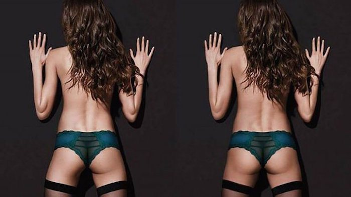 El Photoshop le quitó una nalga a un ángel de Victoria's Secret