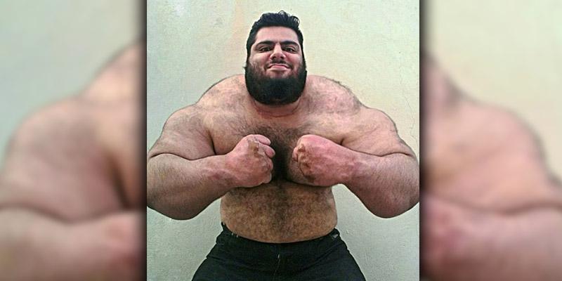 Conoce al 'Hulk iraní', es puro musculo