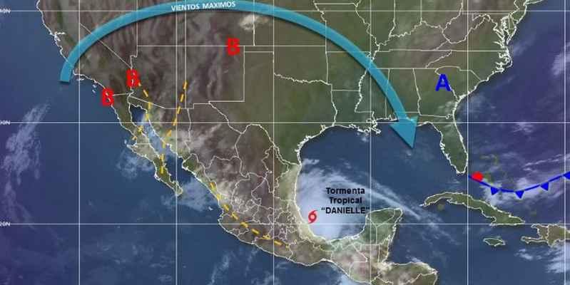 Tormenta tropical Danielle se forma en Golfo de México