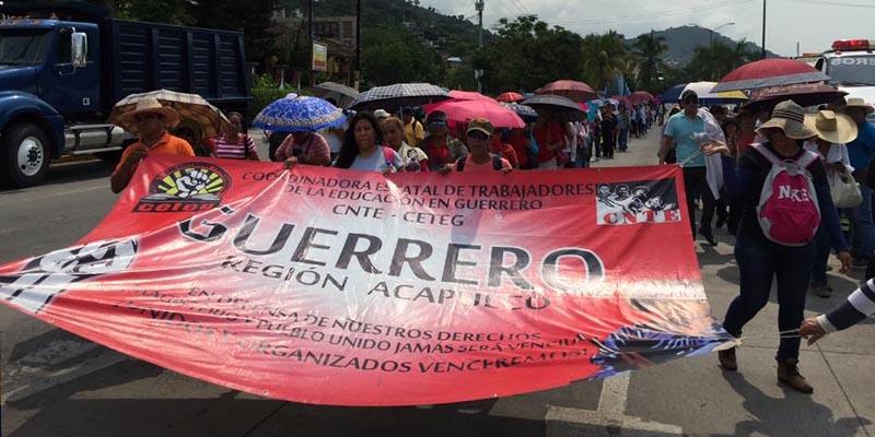 Rechaza CETEG liberar el zócalo de Chilpancingo por festejos patrios