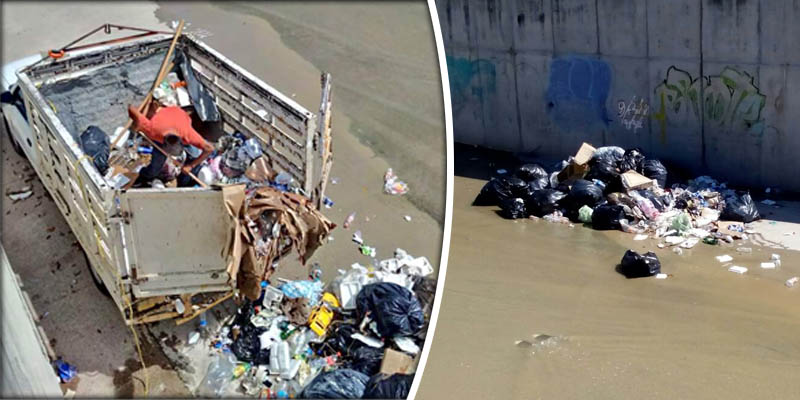 Chilpancingo sin control; tiran basura al río Huacapa