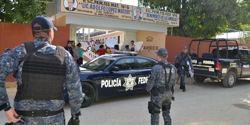 Vigilan 165 escuelas en Acapulco por violencia