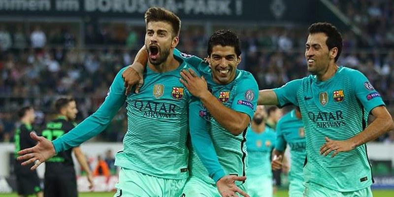 Barcelona supera en su visita a Borussia Monchengladbach en la Champions