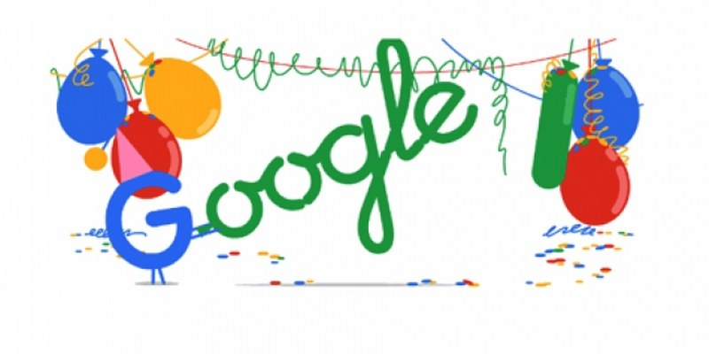 Google celebra sus 18 años con doodle