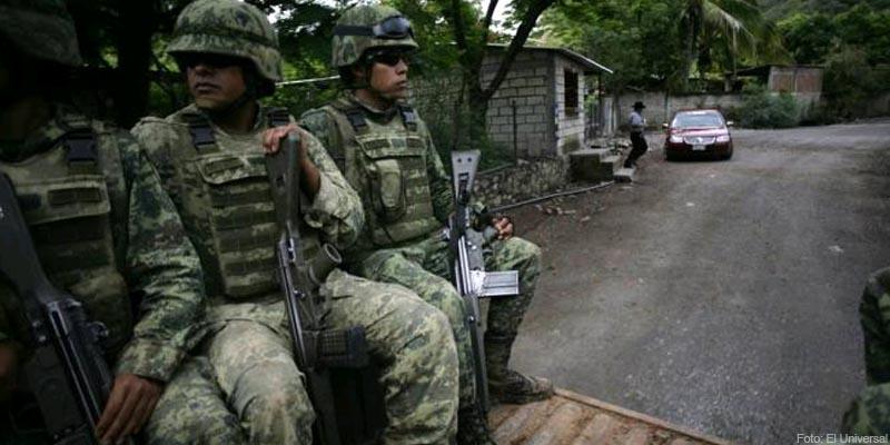 Usa Ejército artillería y todoterreno cuando va a la sierra de Guerrero