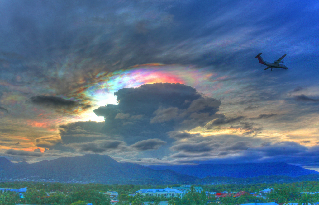 nube iridiscente
