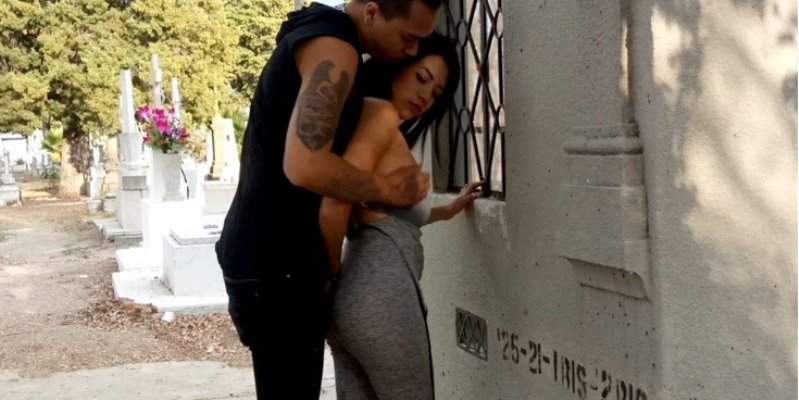 Graban porno en semen... terio de Jalisco