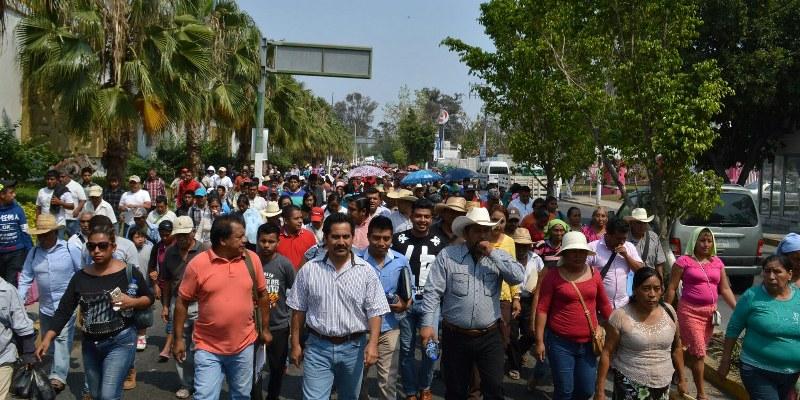 Protestan organizaciones en Chilpancingo por exclusión de Sagarpa