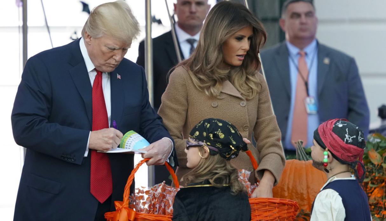 Donald Trump celebra Halloween en la Casa Blanca 2