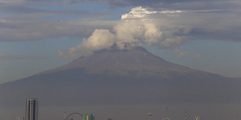Popocatépetl presenta 116 exhalaciones y dos sismos volcanotectónicos