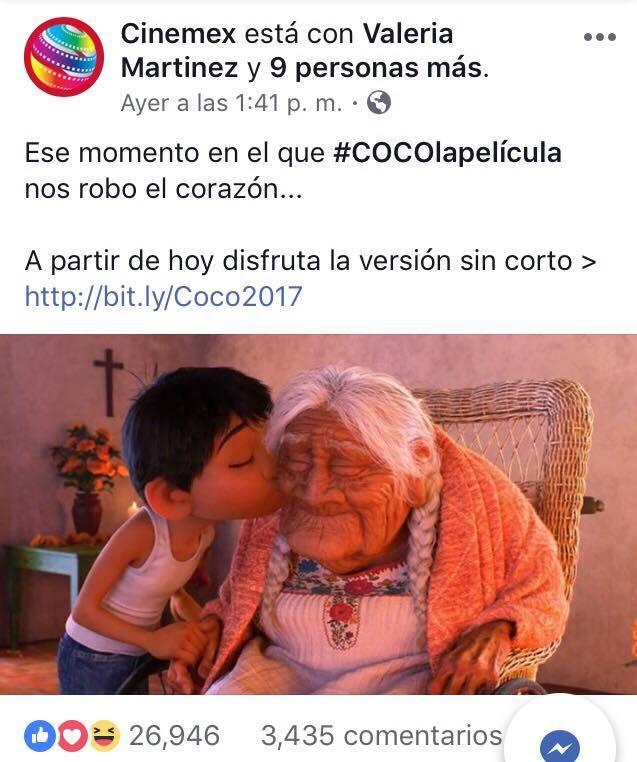 Por fin podrás ver 'Coco' sin corto de Frozen 1